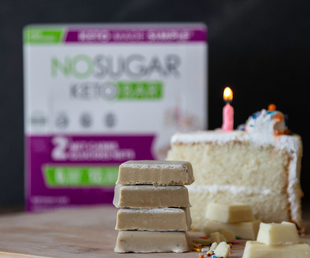 No Sugar Keto Bar Birthday Cake