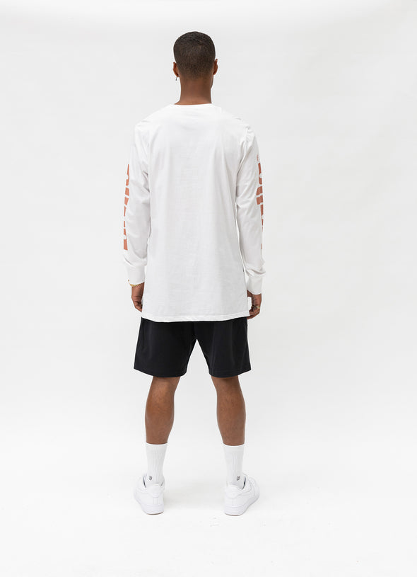 Bloomingdale Long Sleeve Tee | White/Maroon