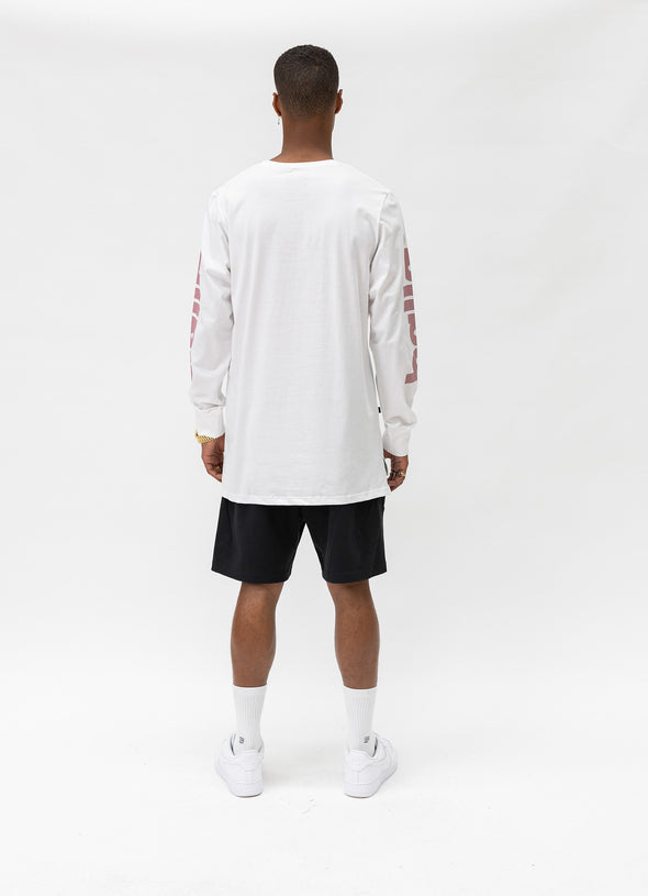 Bloomingdale Long Sleeve Tee | White/Pink
