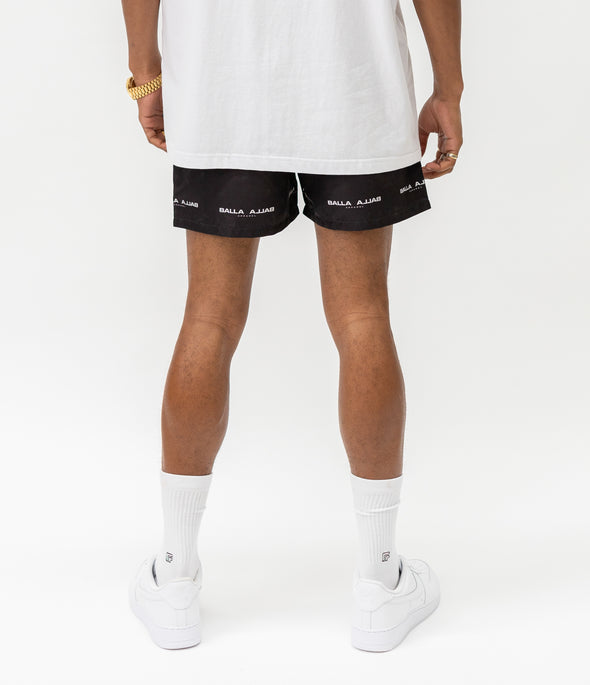 Reverse Balla Beach Shorts | Jet Black