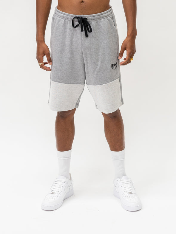 Reverse Panel Fleece Short | Grey Marle