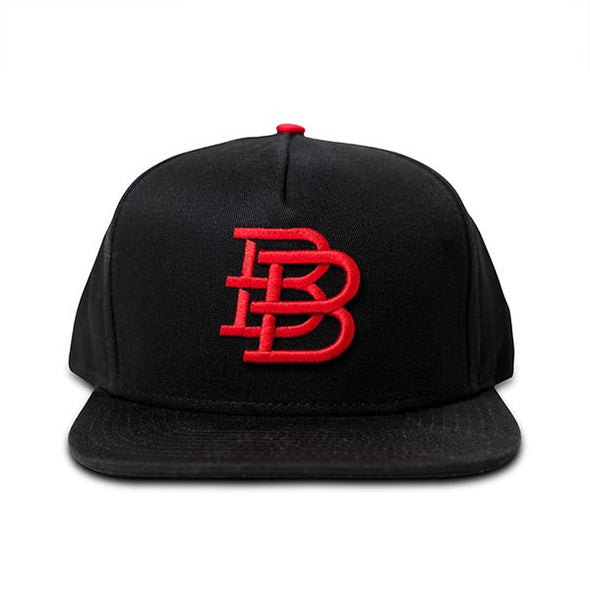 BB Snapback Cap | Black/Red
