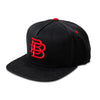BB Snapback Red on Black 3183