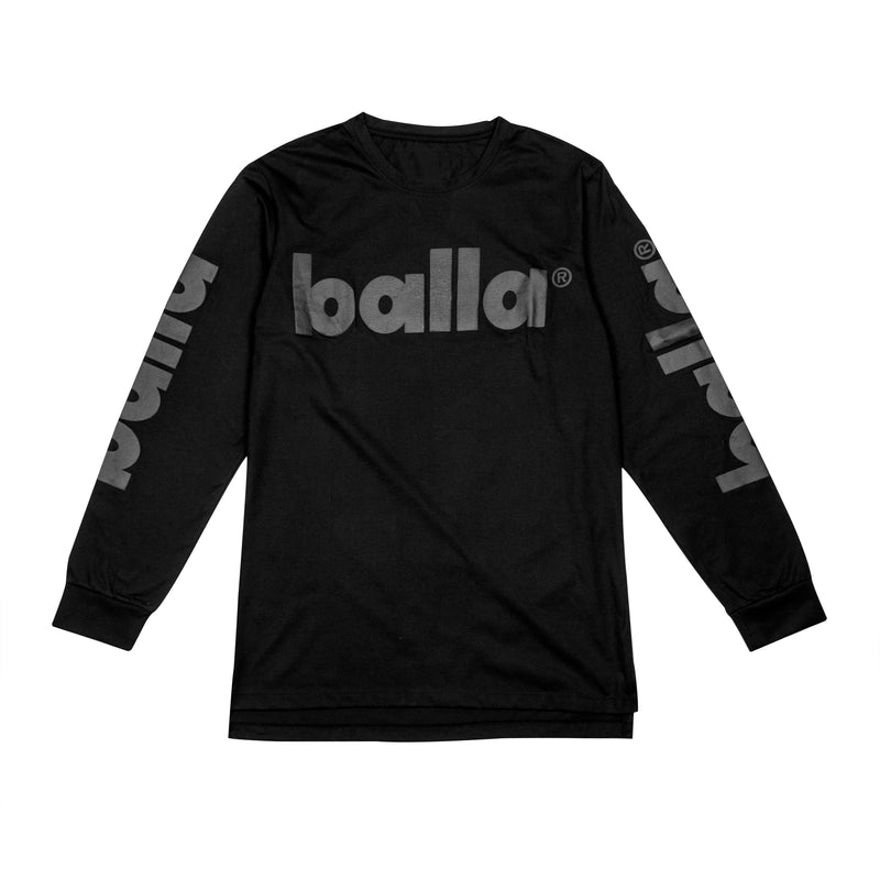 Black on Black Long Sleeve Tee