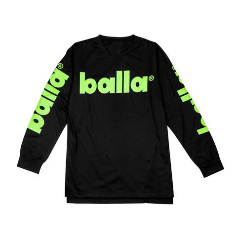 Lime on Black Long Sleeve Tee