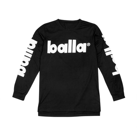 White on Black Long Sleeve Tee