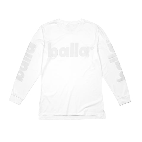 White on White Long Sleeve Tee