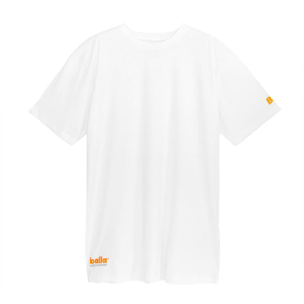 Little Hustlers - Orange on White Tee