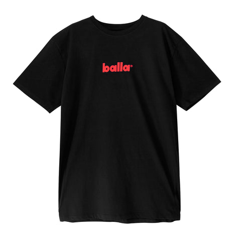 Black Tee w/ Red Balla Logo
