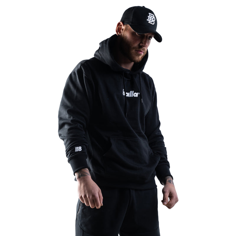 OG Oversized Embroidered Balla Hoodie - Black