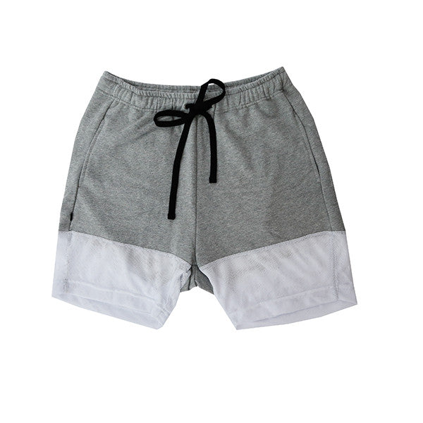 Grey Contrast Shorts