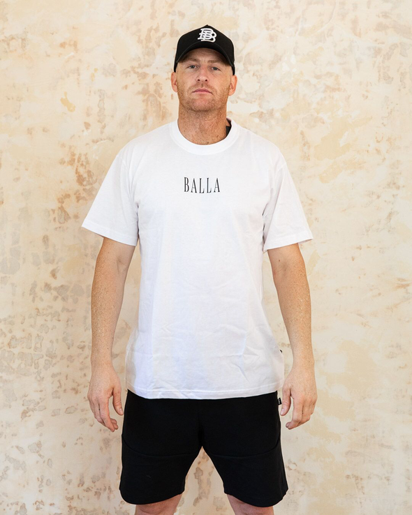 Tall Balla Tee | White/Black