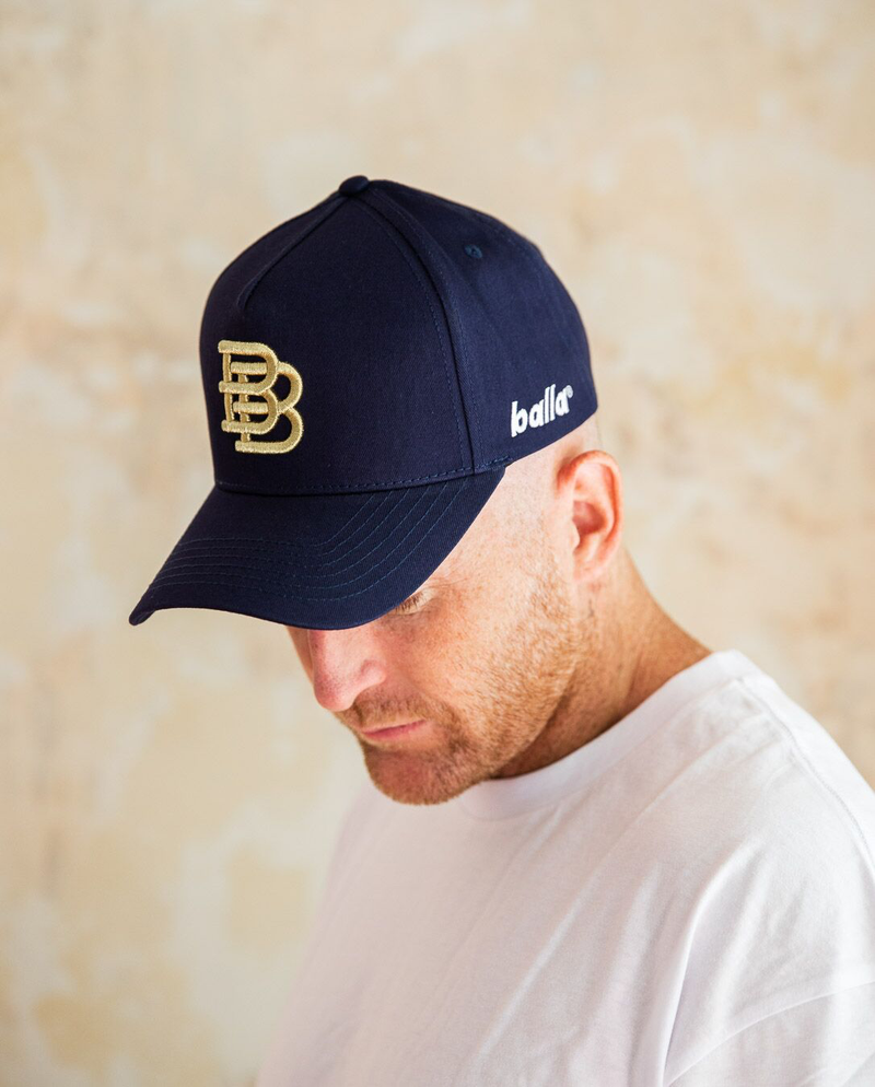 Navy W/ Gold BB Cap