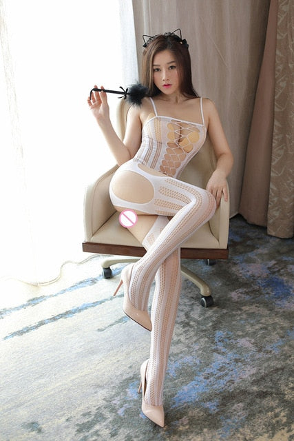 7 Colors Sexy Fishnet Plus Size Babysuit Women Erotic Lingerie Dress Porno Underwear Teddy BodyStockings Costumes Sex Clothes