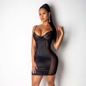 2019 Mesh Dress Women Sexy Dresses Perspective Black/White Fashion Mini Bodycon Dresses Club Vestidos Robes Plus Size M-3XL