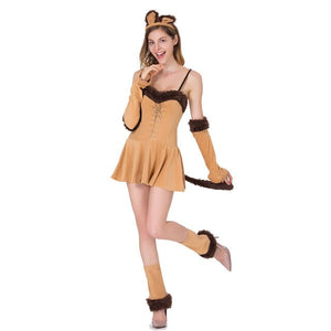 2018 New Halloween Costumes For Women Sexy Costume Catwoman Lion Game Uniform Cosplay Women Fancy Dress Femmes Deguisement