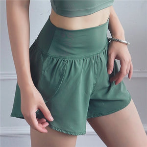 Women Summer Breathbale Shorts Running Gym Sports Athletic Yoga Sports Shorts Biker Sport Wear Fitness Workout Ladies Activewear