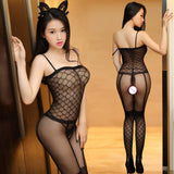 Womens transparent Open Crotch Bodystocking Sexy Erotic Lingerie Teddies Body suits Crotchless bodysuit sleepwear Tights 165
