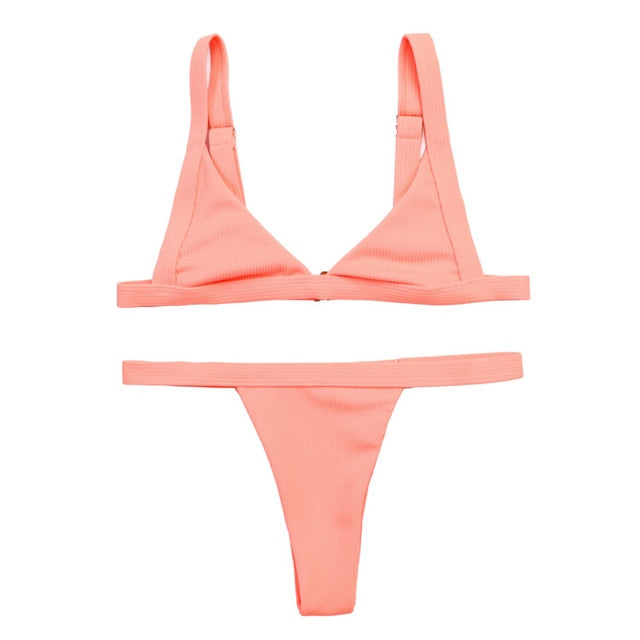 Sexy Swimwear Women micro bikini 2019 mujer Swimsuit Women swimming suit Bikinis Set Vintage Beach biquinis feminino