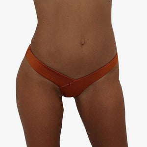 Sexy Women's Bikini Thong Bottom Brazilian V Cheeky Ruched Semi Swimwear Beach