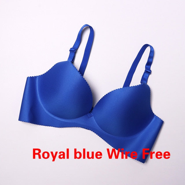 Sexy Deep U Cup Bras For Women Push Up Lingerie Seamless Bra  Bralette Backless Plunge Intimates Female Underwear 2019