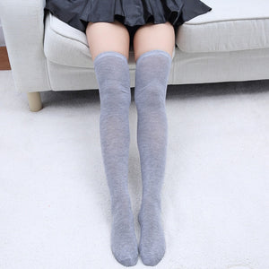 Sexy women's stockings gaiters striped long socks thigh high stockings female erotic warm over knee socks women stocking