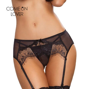 Comeonlover Sexy Wedding Garter Women Big Size Garter Belt For Stockings Ladies Underwear Hot Sale Transparent Lace Garter Panty