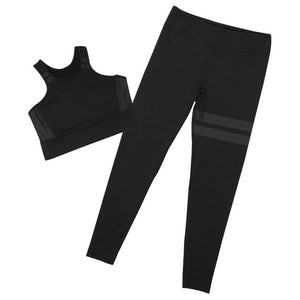 Yoga Set 2019 Women Sportswear High Elasticity + High Waist Pants Women Gym Fitness Activewear Sport Suit Running Wear Pocket