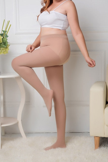40-100kg Sexy Women Autumn Winter Tights Open Crotch Crotchless Sheer Seamless Pantyhose Silk Stockings Black Nude Color