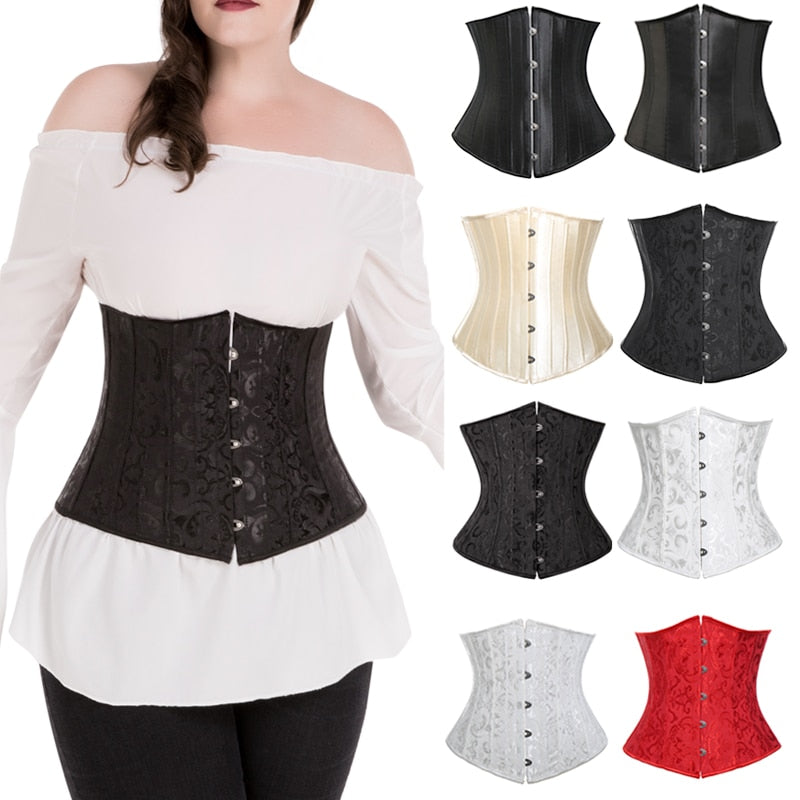 Miss Moly Gothic Underbust Sexy Corset and Waist Cincher Bustiers Top Workout Body Shaper Belt Plus Size Lingerie Corselet S-6XL