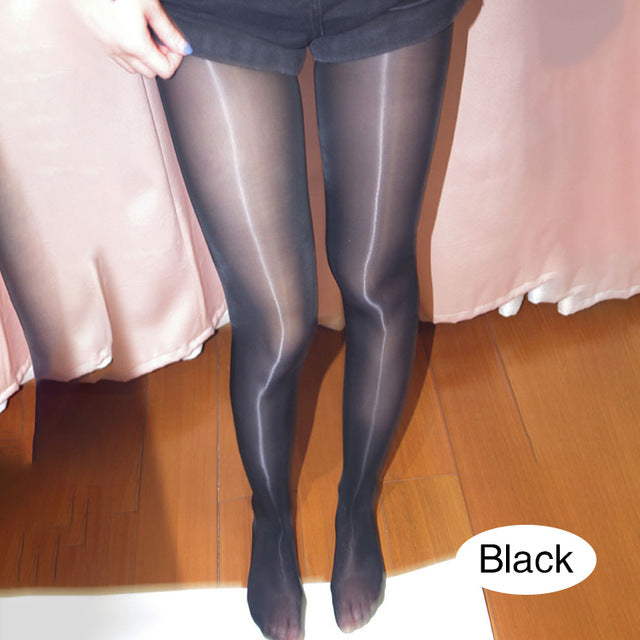 Silk stockings women spring and autumn high elasticity ultra-thin sexy seduction 8D oily pantyhose legs shiny pants