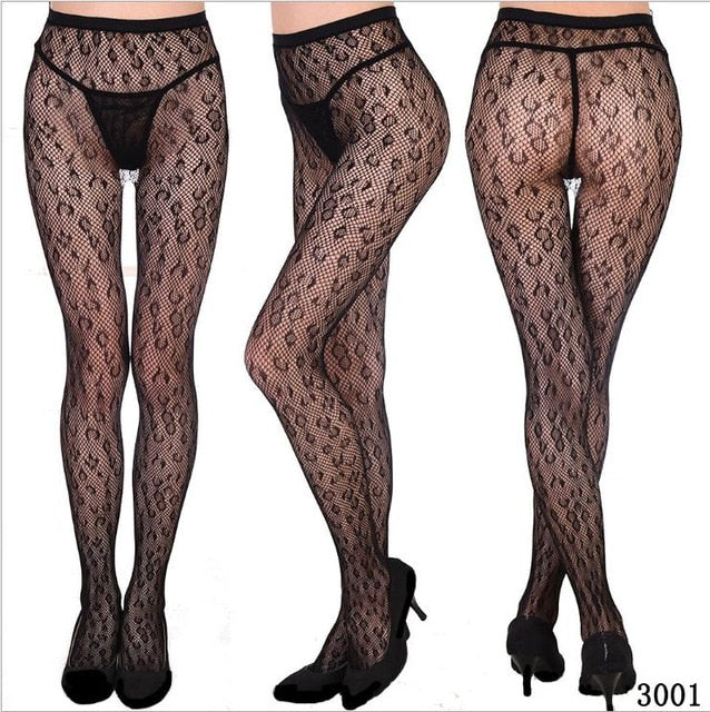 Womens Sexy Fishnet Designer Tights Jacquard Weave Pantyhose Seamless Floral Fish Net Stockings Hose Sexy Lingerie for Women