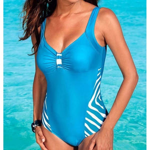 Sexy One-piece Large Size Swimwear With Push Up Women Plus Size Swimsuit Closed Body Female Bathing Suit For Pool Beach Wear