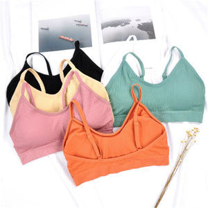 Yoga Sport Bra Women Top Brassiere Sports Top Bra Gym Push Up Women Bra Fitness Athletic Vest Padded Bra Sujetador Deportivo