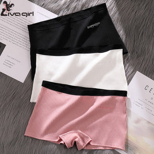 Seamless Women Safety Shorts Pants Thread Seamless Mid Waist Panties Anti-emptied Boyshorts Pants Girls Slimming Underwear