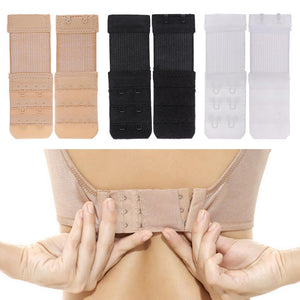 1pcs Adjustable Elastic Bra Extender 2 Hook Bra Extension DIY Bra Extender 3 Rows Women's Underwear Strap Clothing Accessories