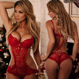 Porno Sexy Lingerie Women Babydolls Sleepwear Nightwear Underwear Hot Erotic Lace Dress Women Chemises
