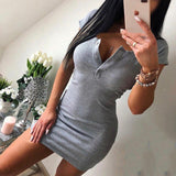Sexy Knit Sheath Mini Dresses