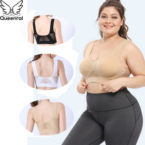 Bras For Women Plus Size Seamless Bra With Pads Easy Comfort Bra Active Everyday Push Up Bralette Vest Wireless Brassiere Bra
