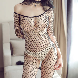 Sexy Lingerie Woman Fishnet Bodystockings Erotic Lingerie Crotchless Babydoll Hot Sex Costumes Open Crotch Full Body Pantyhose