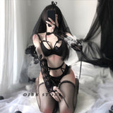 Sexy Lingerie For Women Bride Cosplay White Black Uniform Maid Temptation Porn Bridal lingerie Lace Cute Costumes Wedding Dress