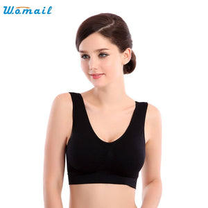 2020 Best Deal   Hot Womens yoga crop tops lady Thin No Mat Athletic Vest Fitness Sports Yoga Stretch Bras Good-looking AU19X7