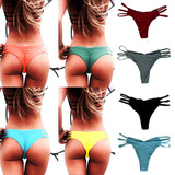 Summer Women Sexy Brazilian Swimming Trucks Shorts Panties Ladies V Thong Cheeky Ruched Bottom Swimwear Beachwear Bathing Suit