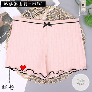 Cotton Women Safety Shorts Girls Pants Breathable Boyshorts Mid Waist Panties Girls Boxer Shorts Seamless Slimming Underwear