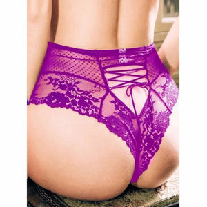 Large Size Sexy High Waist Lace Tight Sexy Underwear Open Crotch Lingerie Hot Fetish Sexy Lingerie Plus Size Crotchless Panties