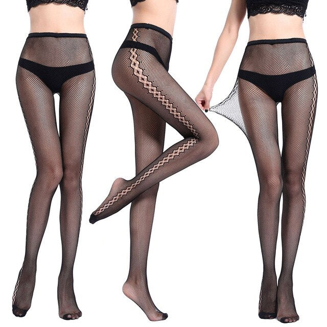 New Arrival Thin Womens Pantyhose Sexy Solid  Color Leopard Fishnet Tights Floral Stockings Hose Lace Sexy Lingerie