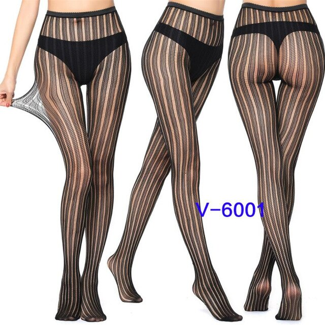 YGYEEG Women Sexy Pantyhose Mesh Fishnet Nylon Tights Long Stocking Jacquard Step Foot Seam Pantyhose High Over Knee Stockings
