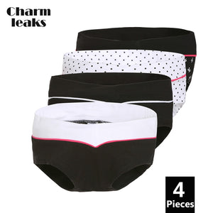 Charmleaks Women's Panties Pregnant Women's Underwear Panties Hipster Briefs Cotton Soft Solid Mid Waist Cozy Retro High Quality