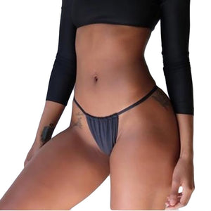2020 Womens Swimwear Brazilian Cheeky Bikini Bottom Side Tie Thong Bathing Swimsuit Black Sexy Briefs Summer thongs Beachwear