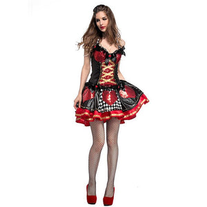 Queen Of Hearts Halloween Costumes For Women Sexy Fancy Dress